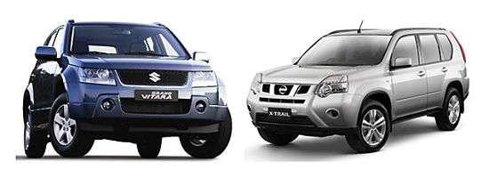 Nissan X-Trail и Suzuki Grand Vitara