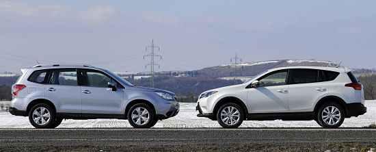 Toyota RAV4 и Subaru Forester