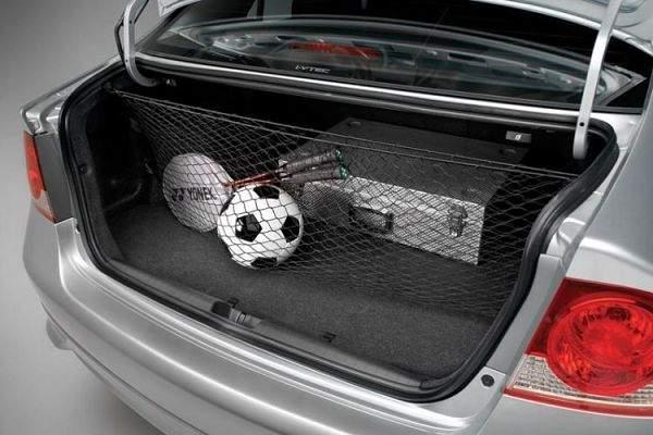 Вертикальная сетка в багажник авто