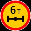 Знак Ограничение массы, приходящейся на ось транспортного средства временный
