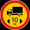 Знак Ограничение длины временный