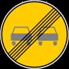 Знак Конец зоны запрещения обгона