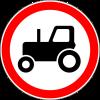 Знак Движение тракторов запрещено
