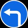 Знак Движение налево