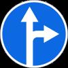 Знак Движение прямо или направо
