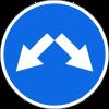 Знак Объезд препятствия справа или слева
