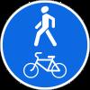 Знак Пешеходная и велосипедная дорожка с совмещенным движением (велопешеходная дорожка с совмещенным движением)