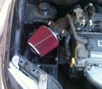 воздушный фильтр нулевого сопротивления под капотом машины