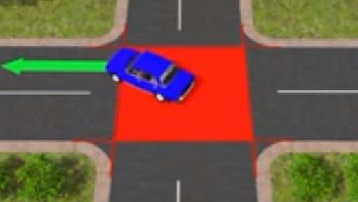 правильная траектория поворота на перекрестке