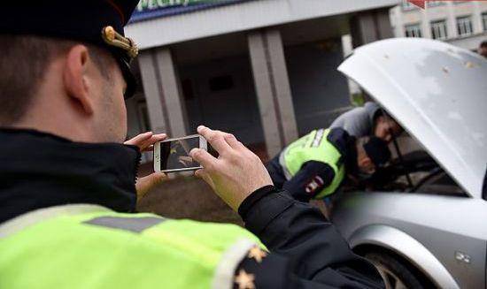 видеосъемка работы сотрудников ГИБДД
