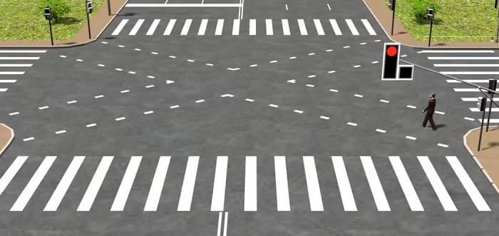 диагональ на пешеходном переходе
