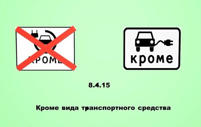 дорожный знак 8.4.15